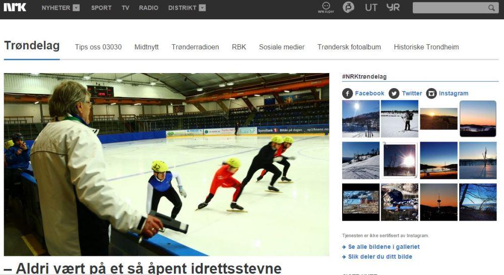 Skjermdump NRK Trøndelag